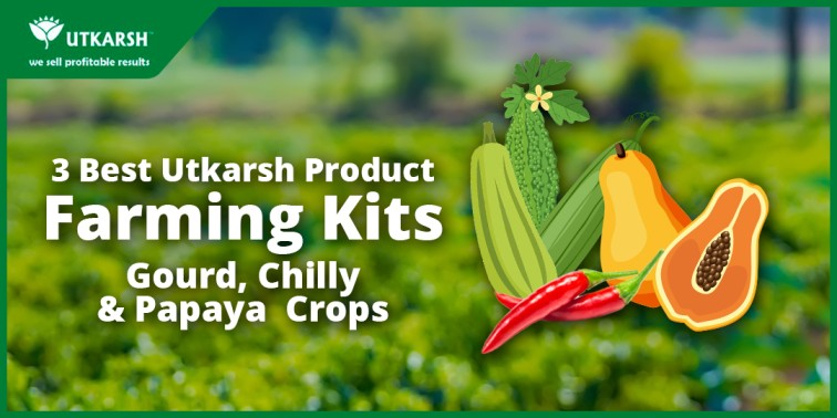 3 Best Farming schedule kit for Chilli, Gourd and Papaya crops by Utkarsh